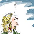 雨の日のエルフさん