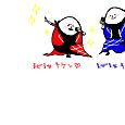 信長と蘭丸×玉美・エッグマン